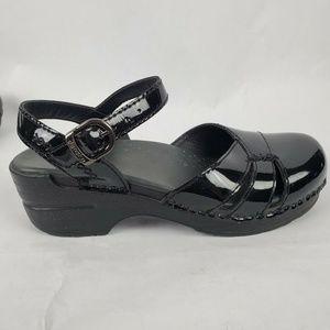 Dansko Patent Leather Slingback Mary Janes